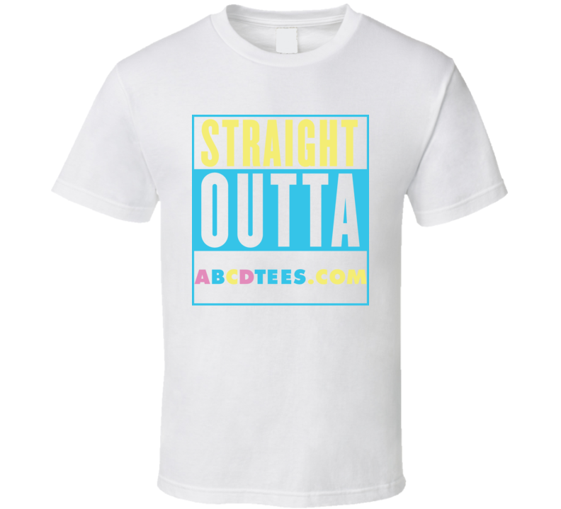 Straight Outta Abcdtees.com Compton Parody T Shirt