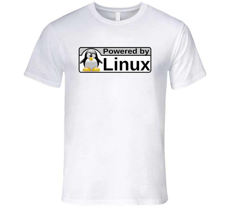 Powered By Linux Os Logo T Shirt