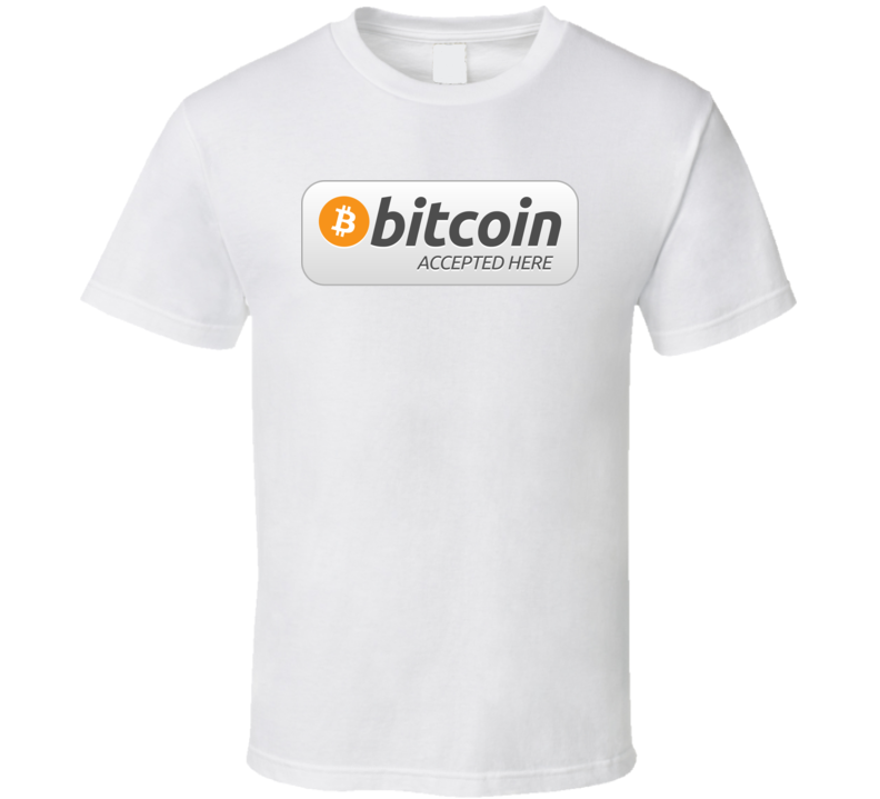 Bitcoin Accepted Here Funny Crypto T Shirt