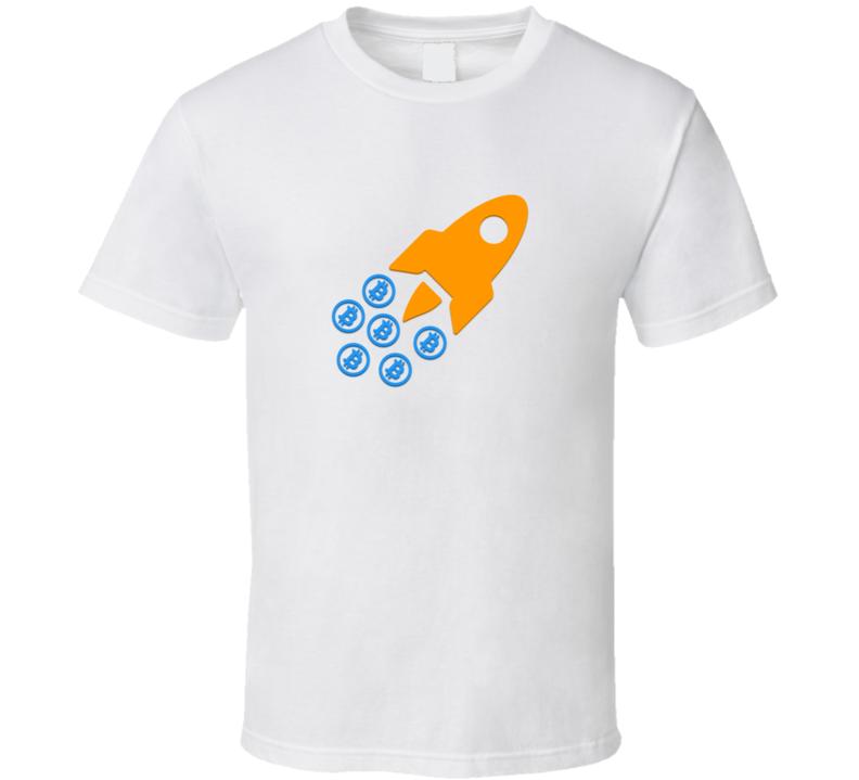 Bitcoin Btc Rocket Funny Crypto T Shirt
