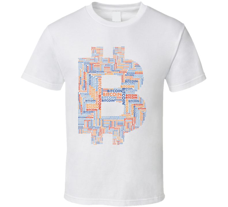 Bitcoin Btc Word Art Crypto T Shirt