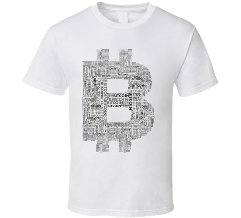 Bitcoin Btc Word Art Black Crypto T Shirt