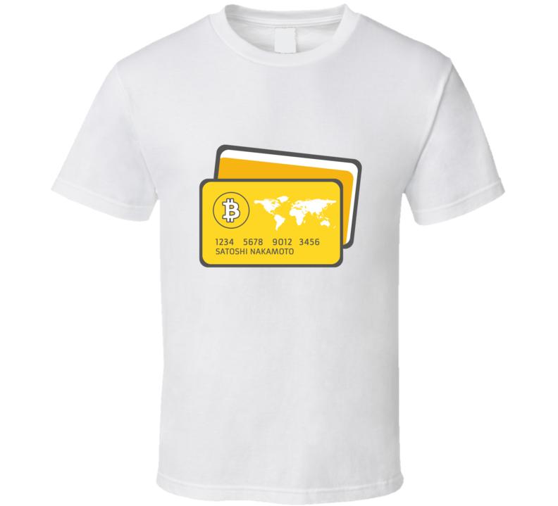 Satoshi Nakamoto Bitcoin Btc Card Crypto T Shirt