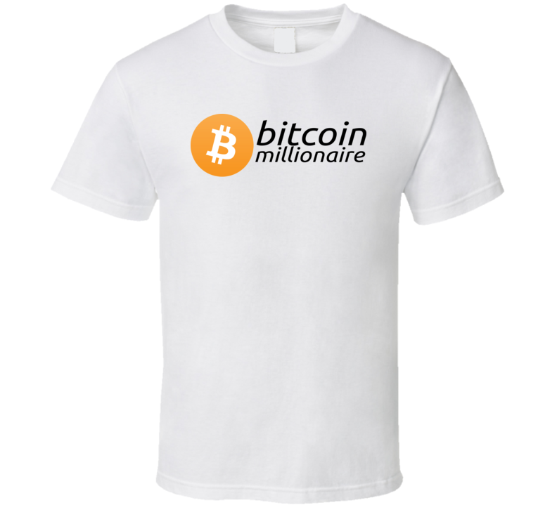 Bitcoin Millionaire Funny Cryptocurrency T Shirt Mens