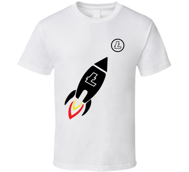 Litecoin Ltc Rocket Crypto Currency Funny T Shirt