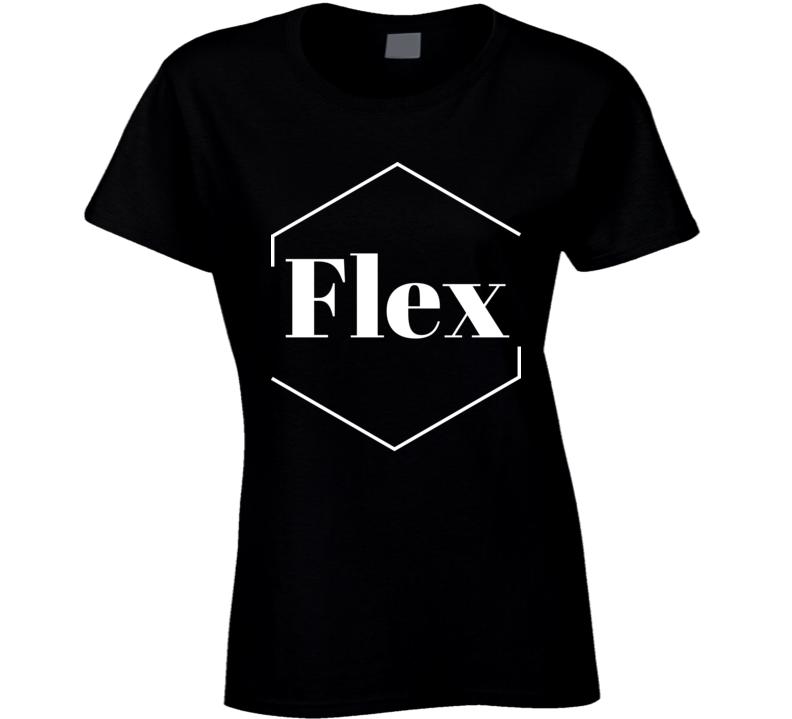Flex Black Ladies T Shirt