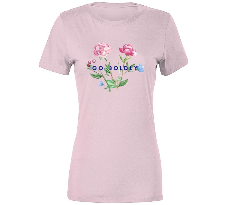 Go Boldly Floral T Shirt