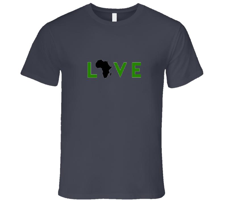 Love Africa- Green T Shirt