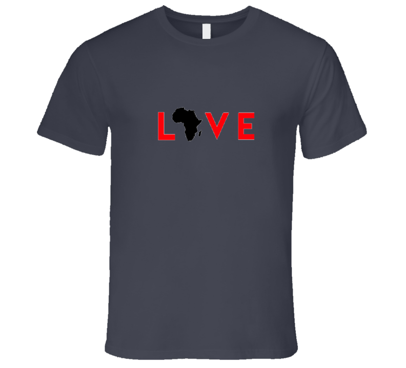 Love Africa- Red T Shirt