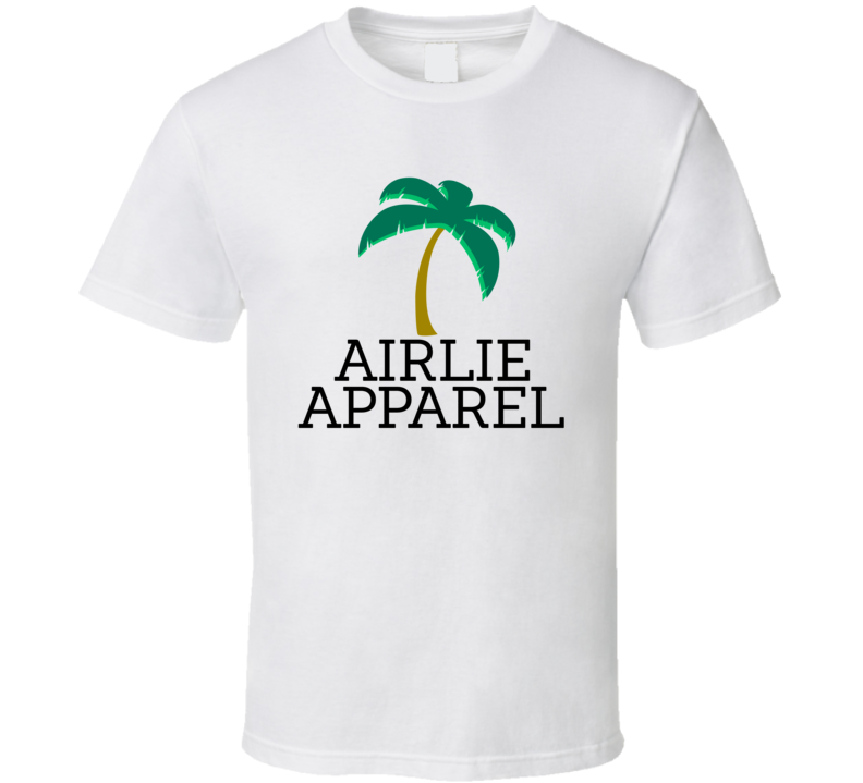 Airlie Apparel Palm Tree Beach Brand Logo T Shirt