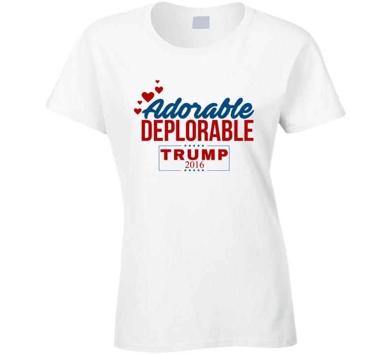 Adorable Deplorable 2016 Love Donald Trump Republican Winner President Election T Shirt