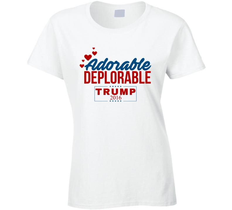 Adorable Deplorable 2016 Love Donald Trump Republican Winner President Election T Shirt