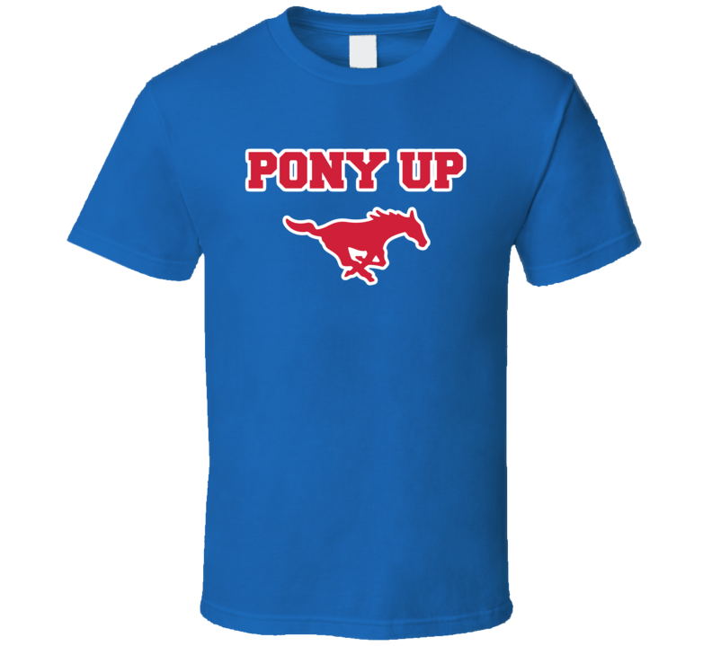 Pony Up Horse Logo College Basketball Dallas Texas March T Shirt