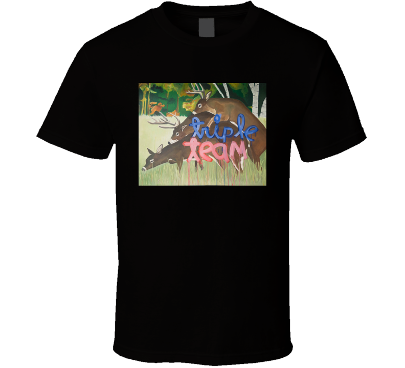 Triple Team Dear Funny James Franco Why Him Movie Painting T Shirt
