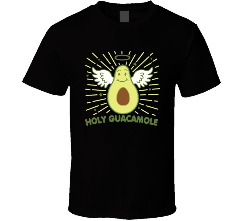 Holy Guacamole Cute Avocado Angel Pun Funny T Shirt