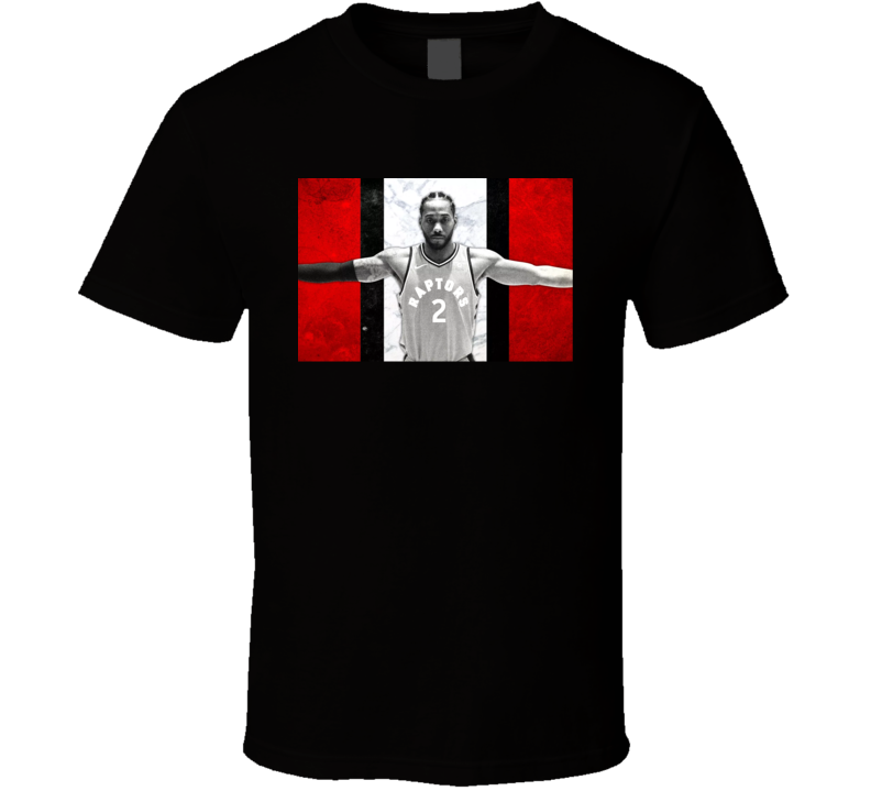 Kawhi Leonard Toronto Basketball Star Red White Black Flag Canada The Finals Ball Fan T Shirt