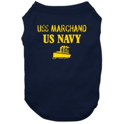 Uss Marchand Us Navy Ship Crew Dog