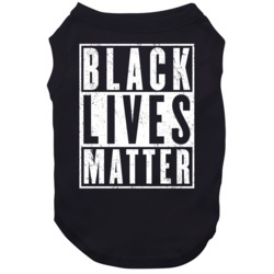 Black Lives Matter Civil Rights Awareness Worn Look Dog