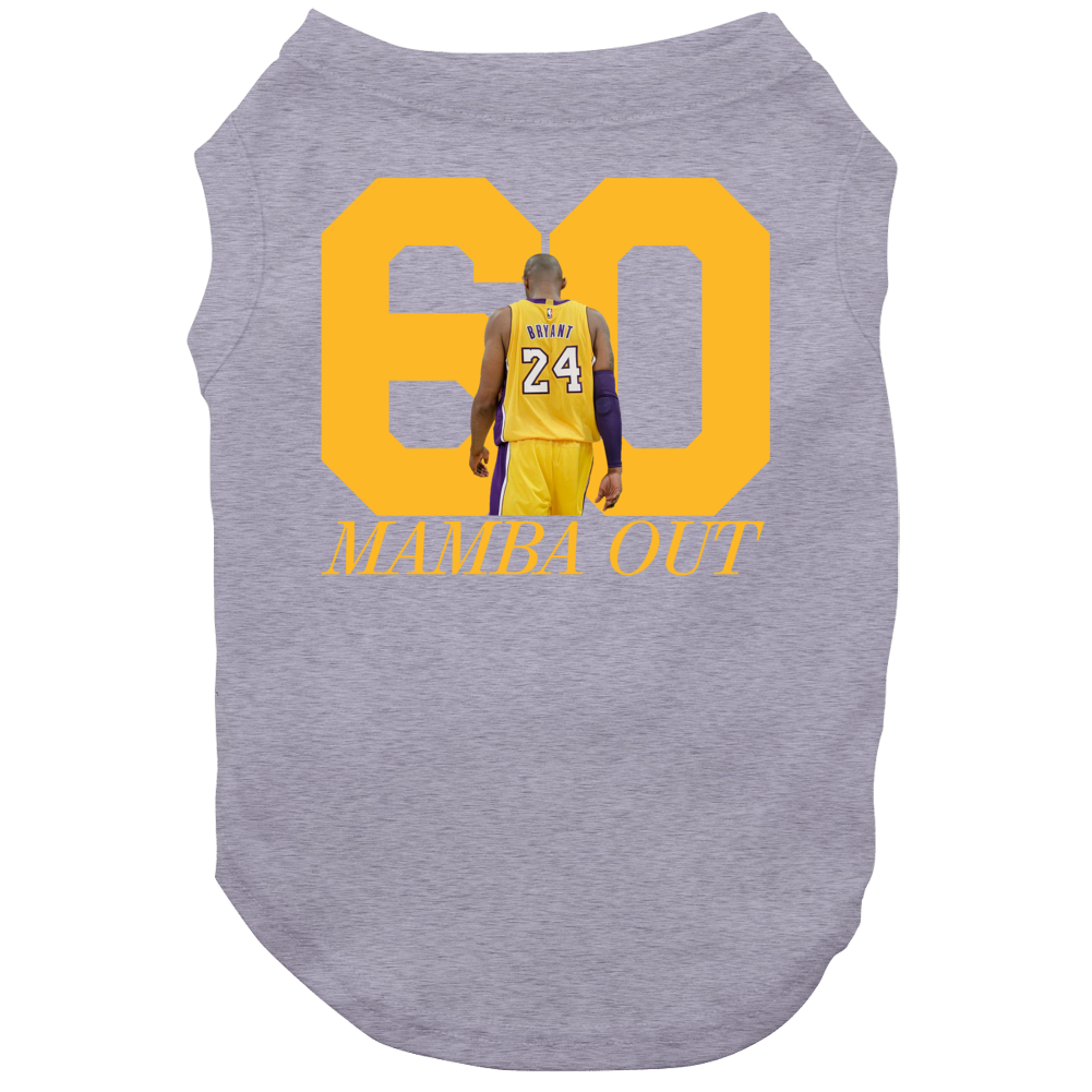 Kobe Bryant Finale Game 60 Points La Los Angeles Basketball Fan Dog