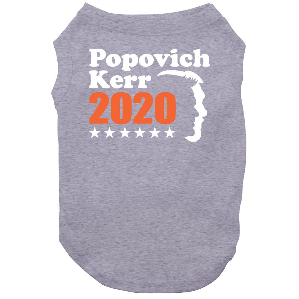 Gregg Popovich Steve Kerr For President 2020 Golden State Basketball Dog