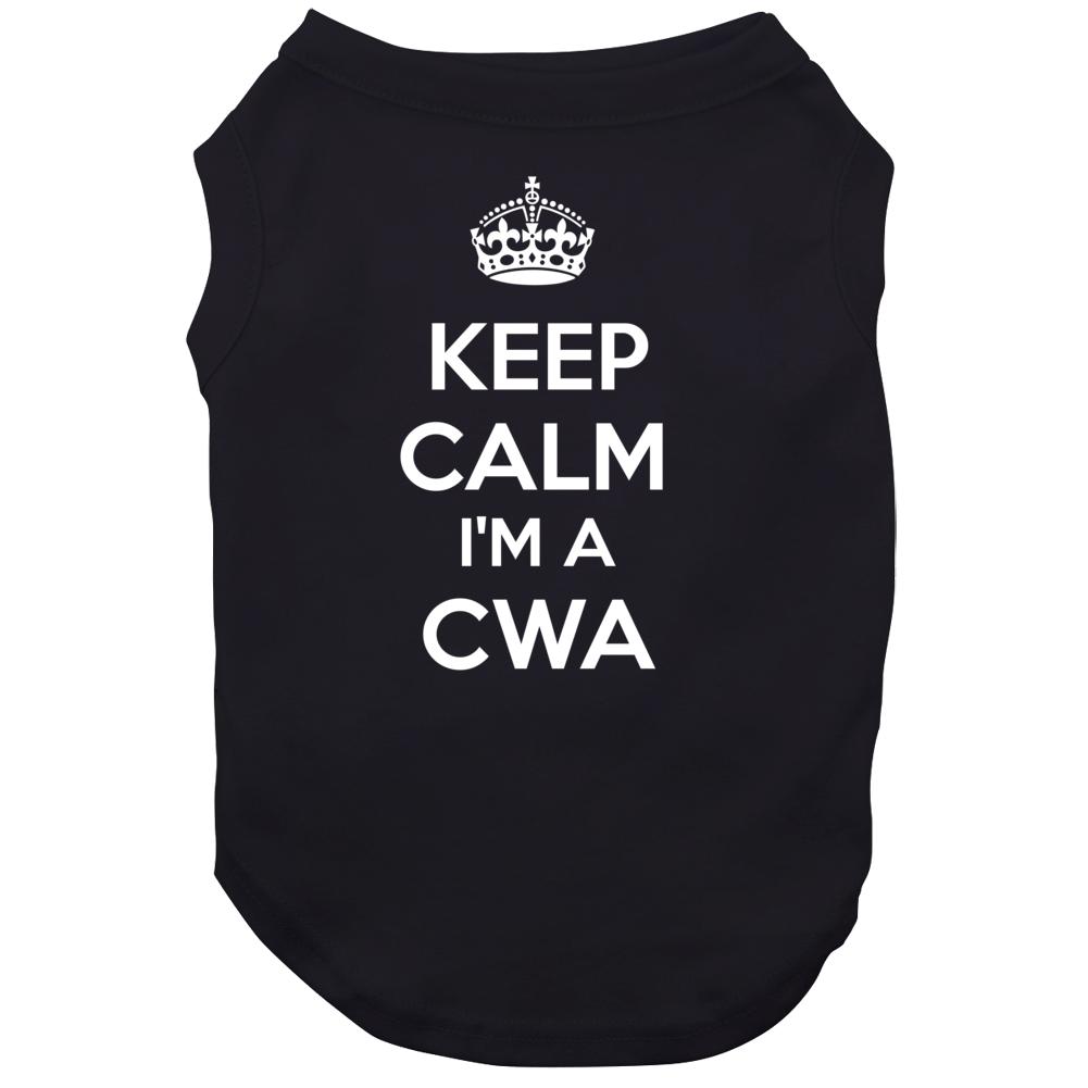 I'm A Cwa Keep Calm Job Funny Dog