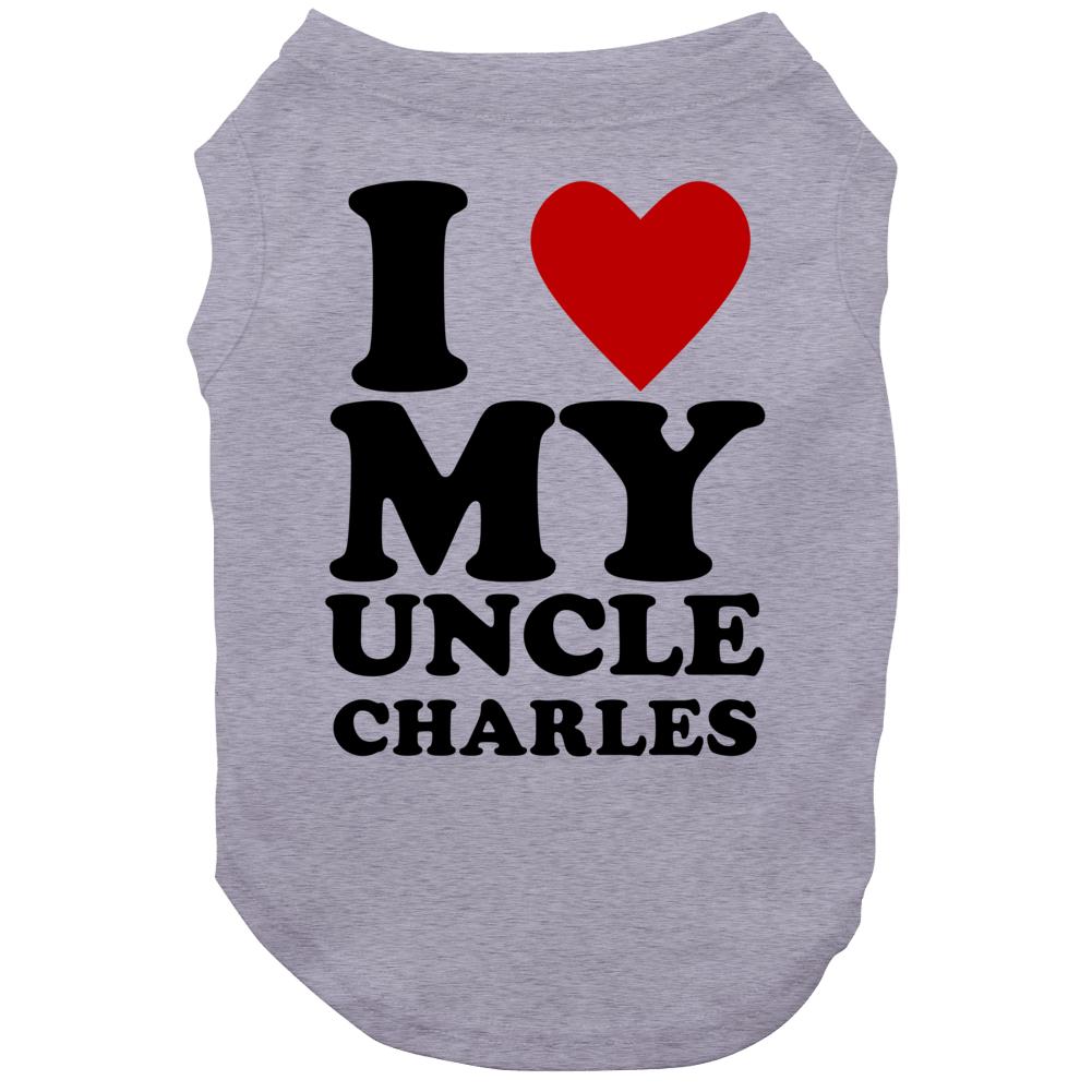 I Love My Uncle Charles Kids Dog