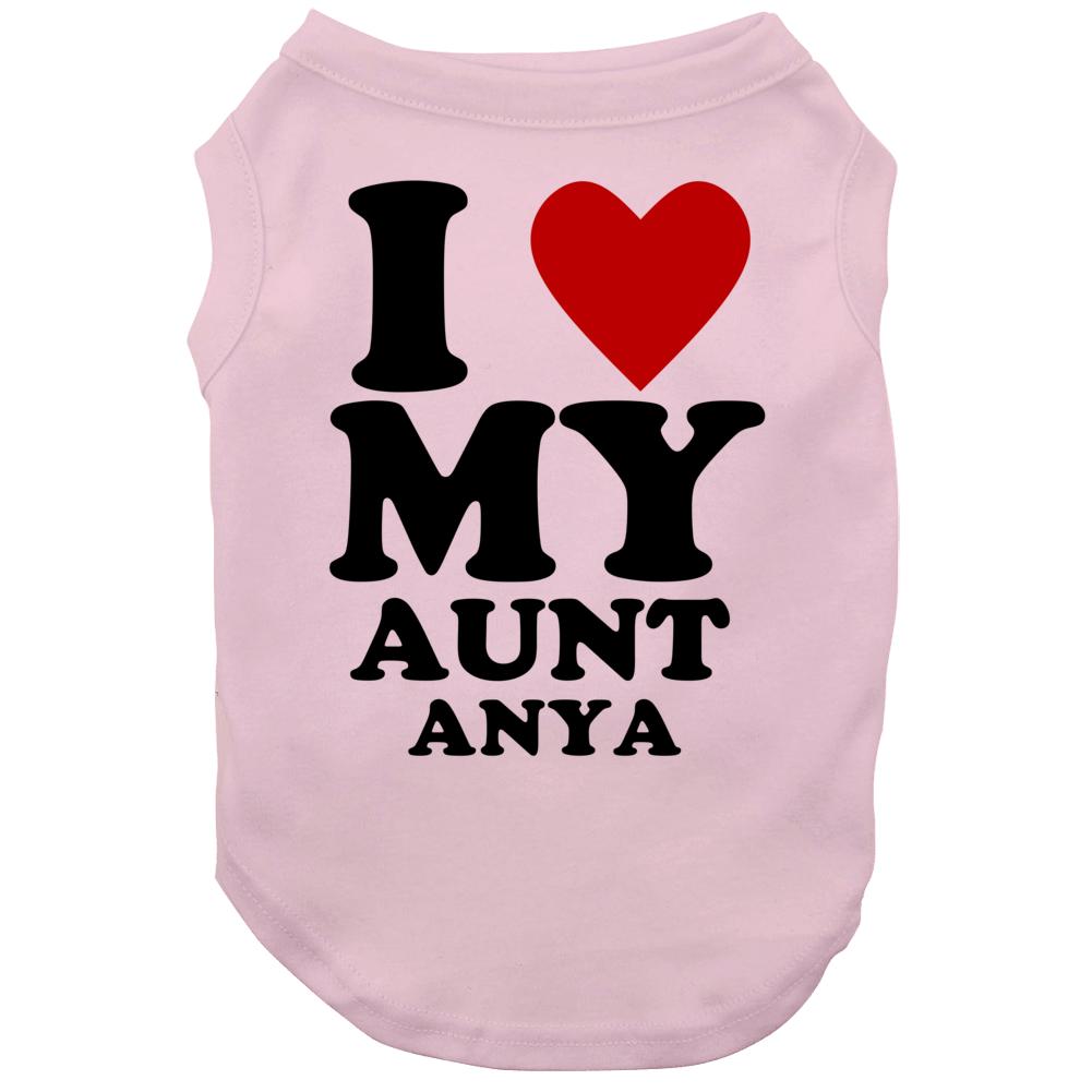 I Love My Aunt Anya Kids Dog