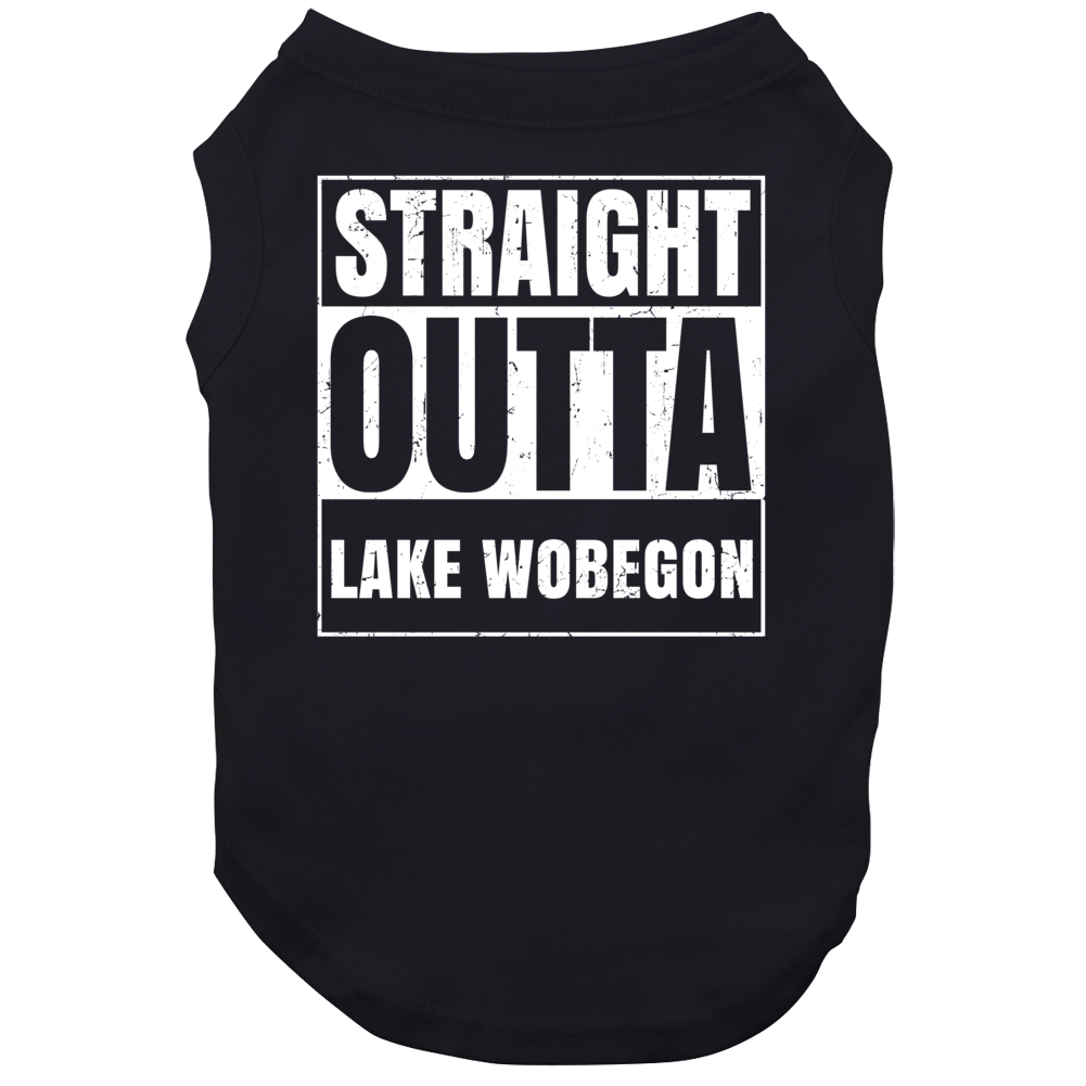Straight Outta Lake Wobegon Fictional Places Parody Dog