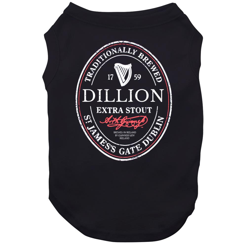 Dillion Irish Beer Label St Patricks Day Guinness Parody Grunge Dog