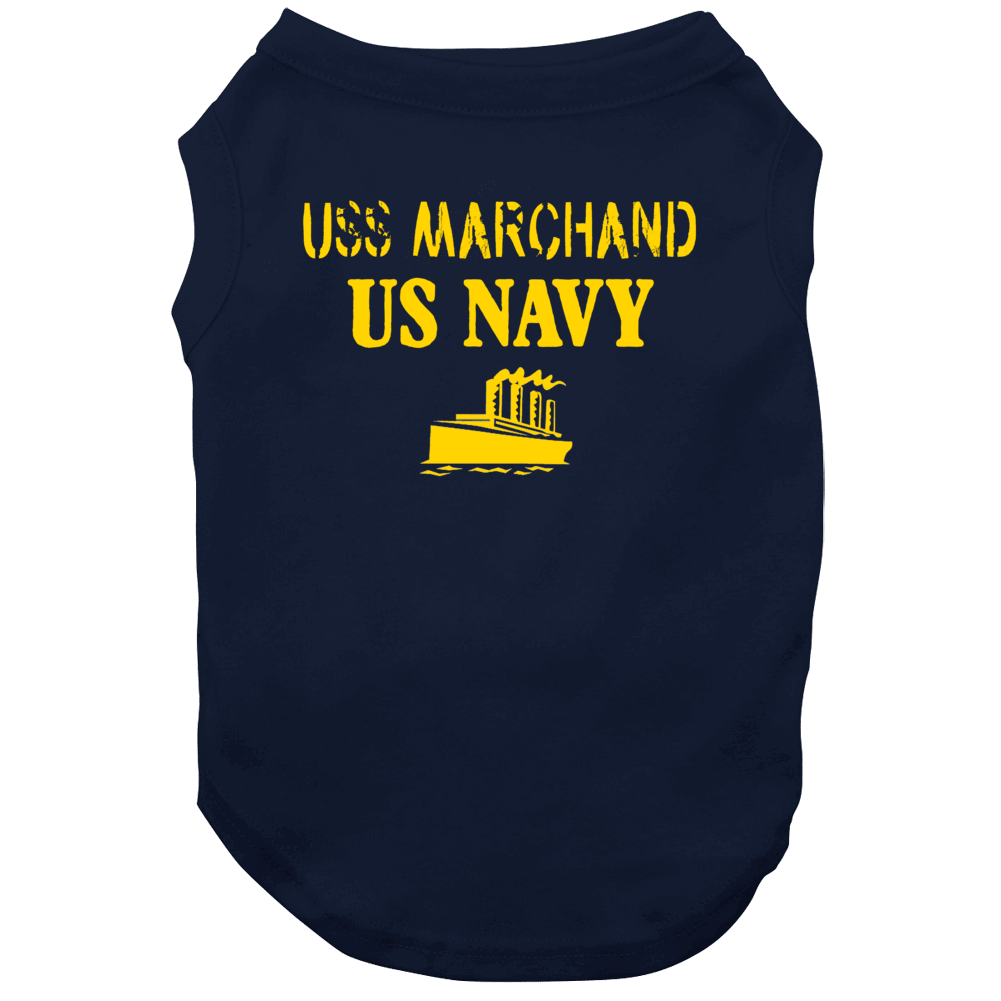 Uss Marchand Us Navy Ship Crew Dog