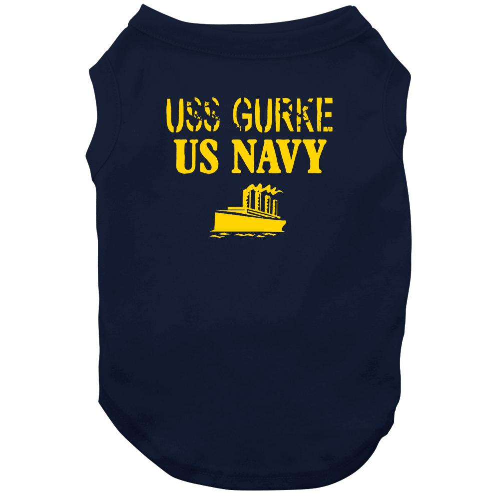 Uss Gurke Us Navy Ship Crew Dog