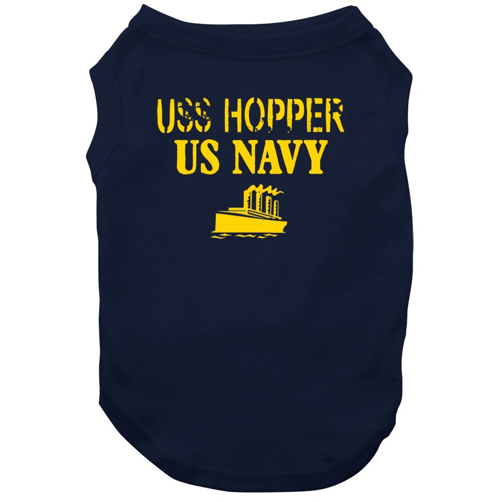 Uss Hopper Us Navy Ship Crew Dog