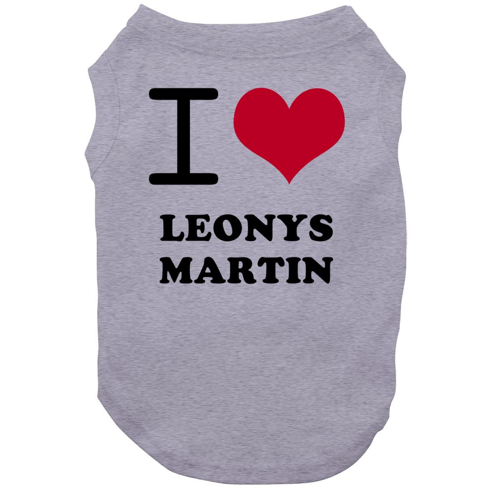 Leonys Martin I Heart Love Baseball Texas Sports Dog