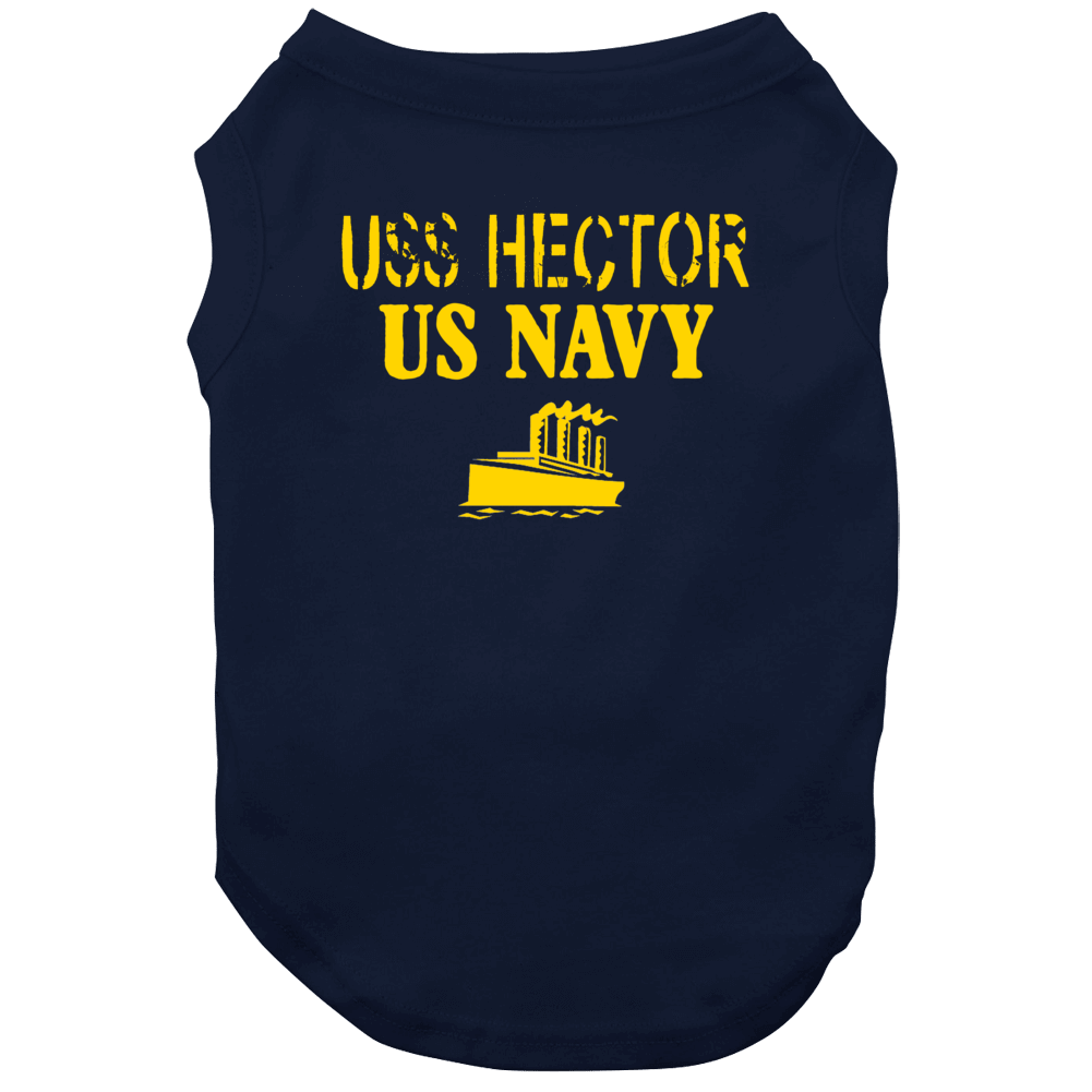 Uss Hector Us Navy Ship Crew Dog