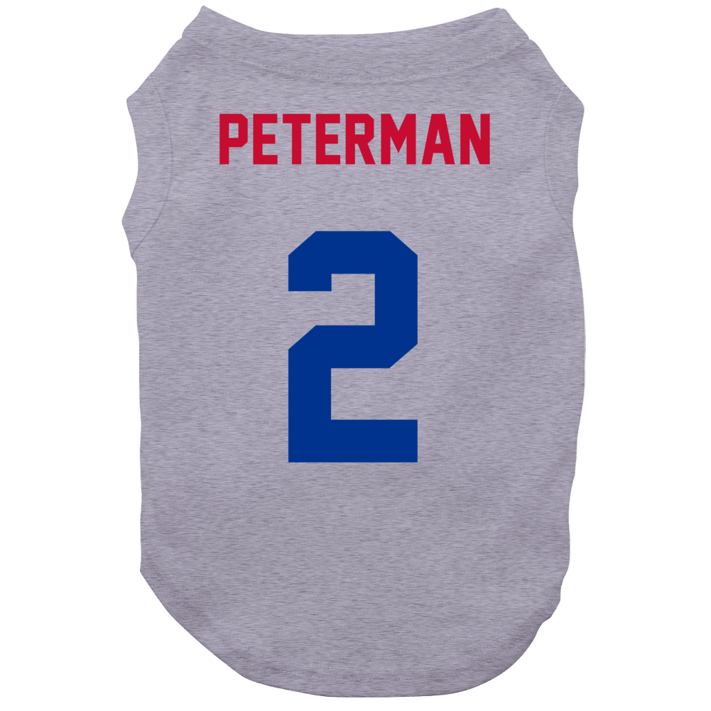 Jersey Back Nathan Peterman Buffalo Football Team Fan For White Dog