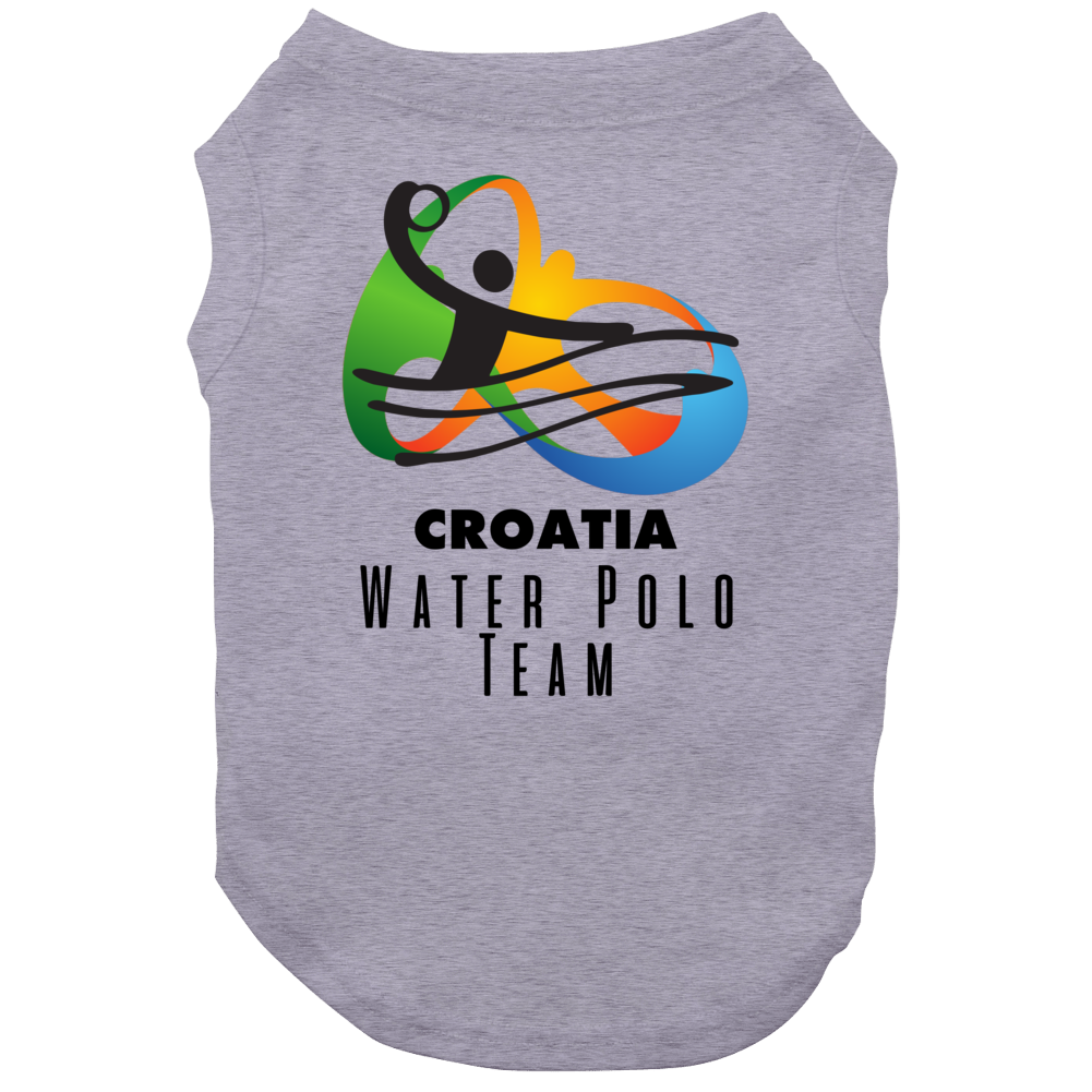 Croatia Water Polo Team Rio 2016 Olympic Event Logo Dog