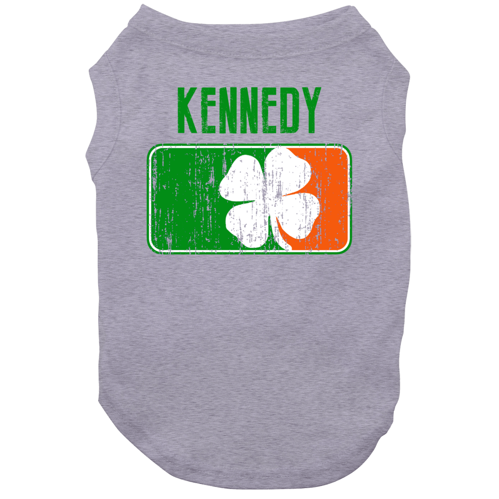 Kennedy Distressed Ireland Irish Family Custom St Patricks Day Flag Dog