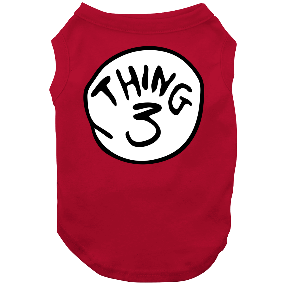 Thing 3 The Cat In The Hat Dr Seuss Group Halloween Costume Dog