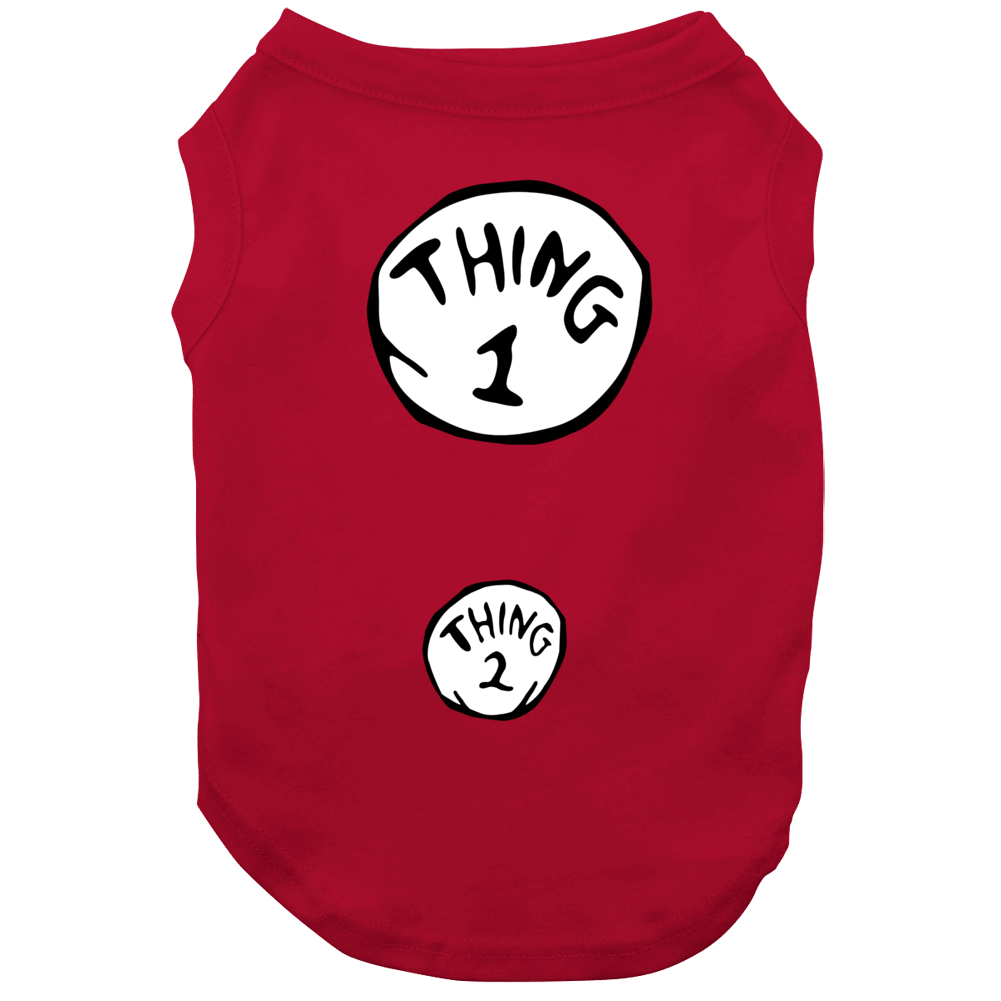 Thing 1 Thing 2 Cute Dr Seuss Inspired Pregnancy Halloween Dog