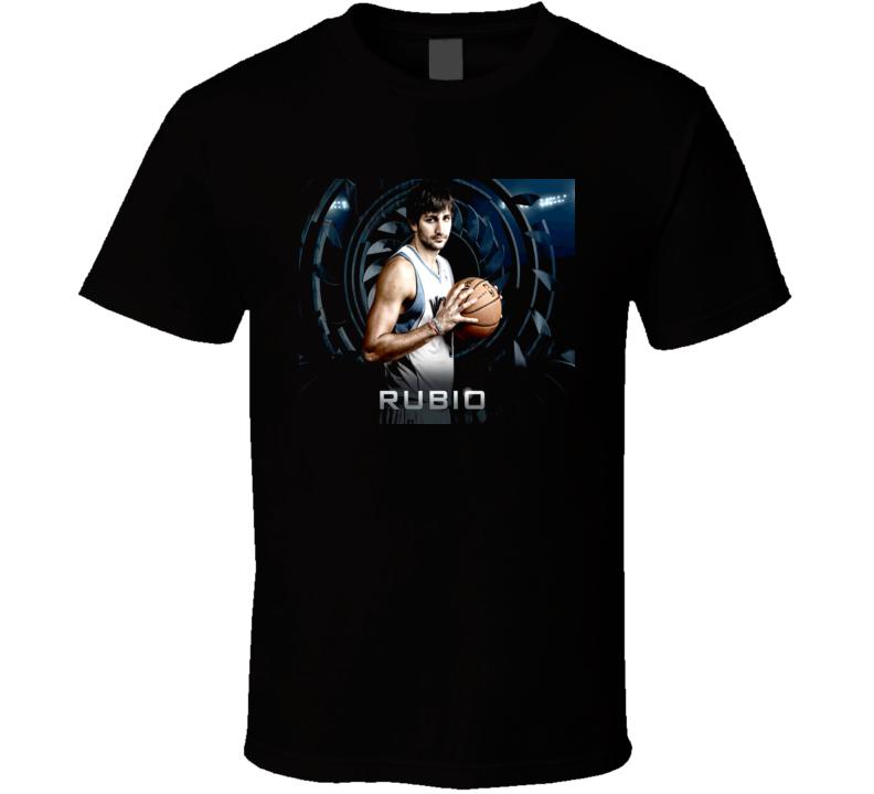 Ricky Rubio Minnesota Basketball T Shirt