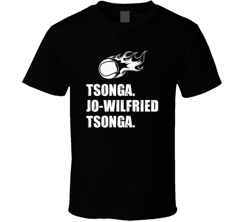Jo Wilfried Tsonga Tennis Player Name Bond Parody T Shirt