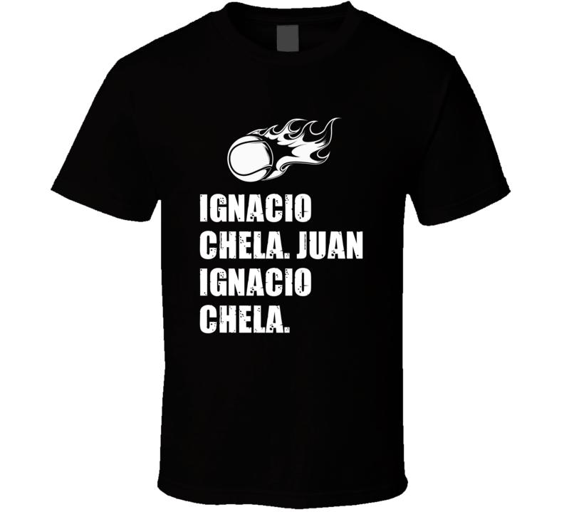 Juan Ignacio Chela Tennis Player Name Bond Parody T Shirt