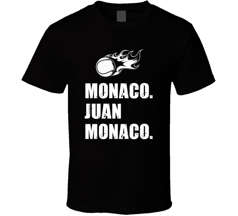 Juan Monaco Tennis Player Name Bond Parody T Shirt
