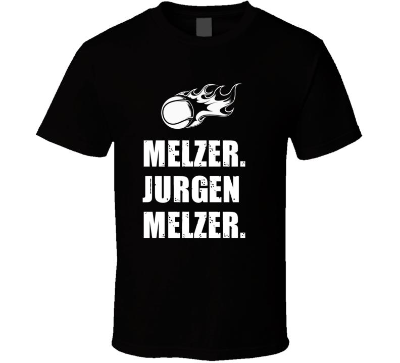 Jurgen Melzer Tennis Player Name Bond Parody T Shirt