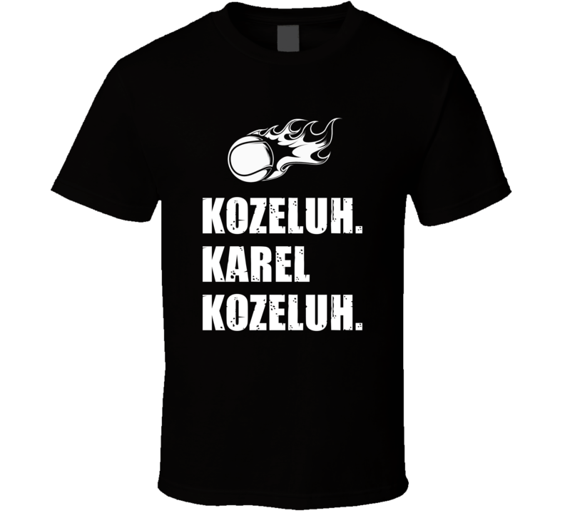 Karel Kozeluh Tennis Player Name Bond Parody T Shirt