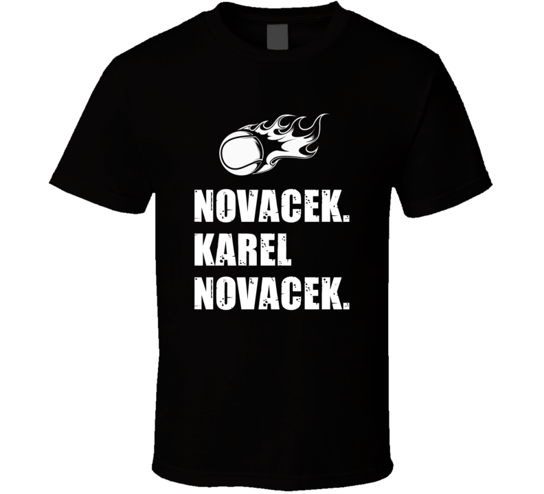 Karel Novacek Tennis Player Name Bond Parody T Shirt