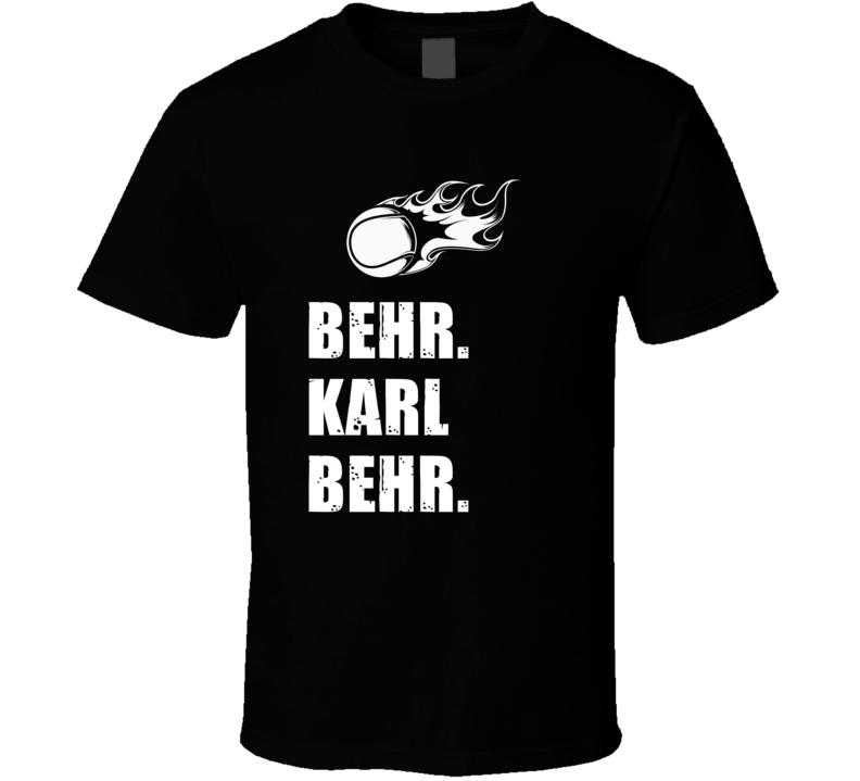 Karl Behr Tennis Player Name Bond Parody T Shirt