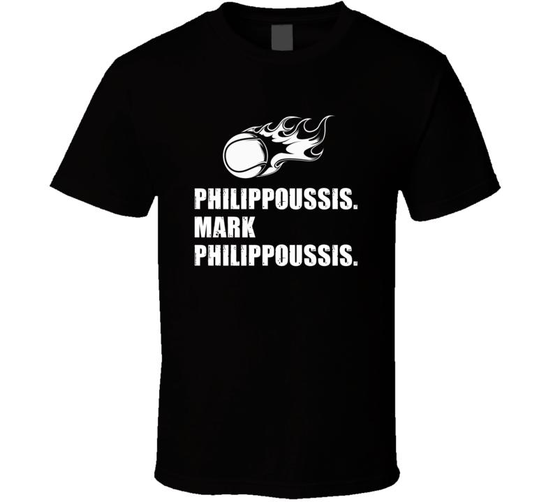 Mark Philippoussis Tennis Player Name Bond Parody T Shirt