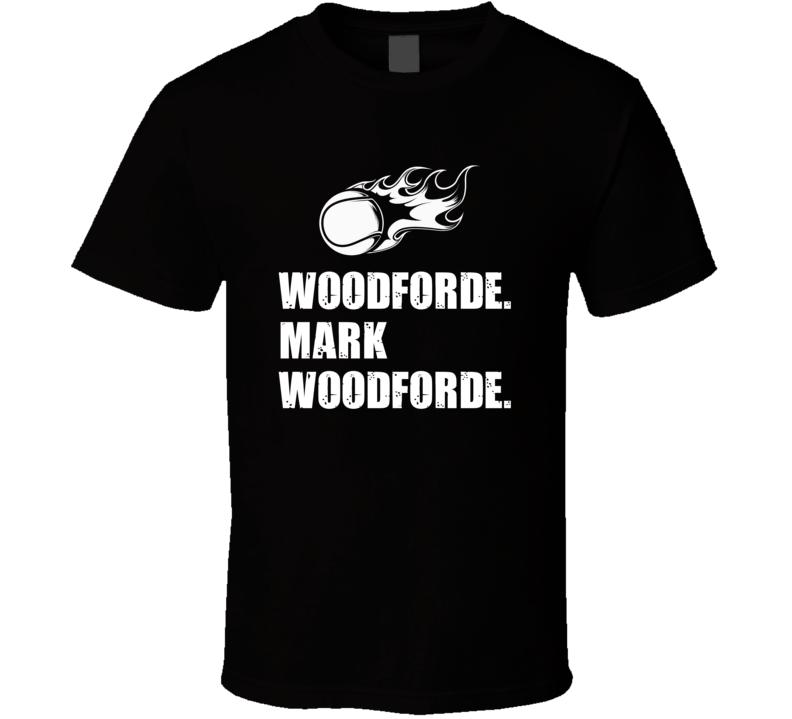 Mark Woodforde Tennis Player Name Bond Parody T Shirt