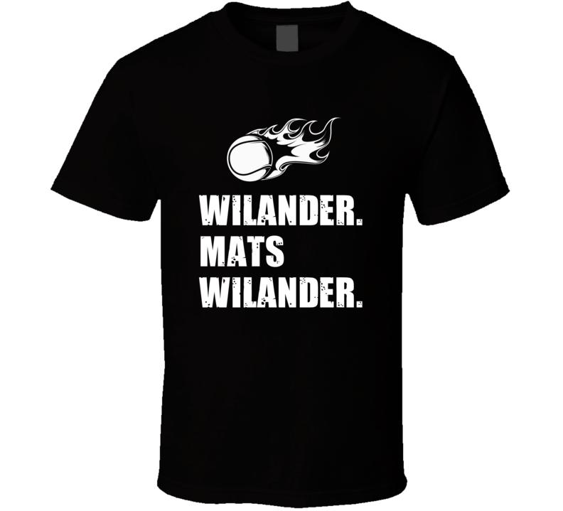 Mats Wilander Tennis Player Name Bond Parody T Shirt